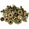 "Treasures Metal Drawer Knobs .375"" 12/Pkg-Antique Brass"