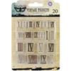 "Metal Vintage Trinkets-Mini Roman Numerals .5"" To .75"", 20/Pkg"