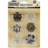 "Metal Vintage Trinkets-Medium Flowers 1.5"" To 2"", 6/Pkg"