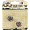 Metal Vintage Trinkets-Jump Rings Assorted Sizes, 100/Pkg