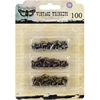 Metal Vintage Trinkets-Mini Brads Assorted Screws, Etc. 100/Pkg