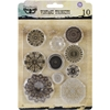 "Metal Vintage Trinkets-Flowers Small 1"", 10/Pkg"