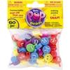 Pop Beads 60/Pkg-Alphabet And Smiley Multicolor