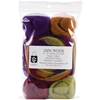 "Wool Roving 12"" .25 Ounce 8/Pkg-Fall Harvest Stripe"