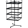 "Metal Jewelry Black Display Shelf - 6"" X 6"" X 13.75"""