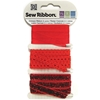 "Crimson Sew Ribbon - 0.39"" X 6 Yards"