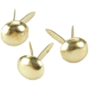 Mini Metal Paper Fasteners Round Gold - 3Mm