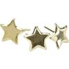 Metal Paper Fasteners Gold Stars - 50 Ct