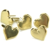 Metal Paper Fasteners Gold Hearts - 50 Ct