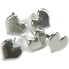 Metal Paper Fasteners Silver Hearts - 50 Ct