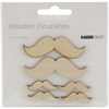 Wood Flourishes-Moustache 6/Pkg