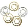 Metal Spiral Clips Gold And Silver - 25 Ct