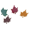 Painted Metal Paper Fasteners 50/Pkg-Fall - Leaves