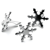 Metal Paper Fasteners Silver Snowflakes - 50 Ct