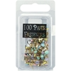 Mini Painted Metal Paper Fasteners 100/Pkg-Pastel