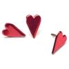 Painted Metal Paper Fasteners 50/Pkg-Metallic Red