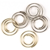 Mini Metal Spiral Clips Gold And Silver - 25 Ct