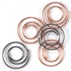 Mini Metal Spiral Clips Antique And Copper - 25 Ct