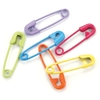 Mini Painted Safety Pins 50/Pkg-Tropical