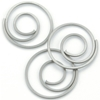 Metal Spiral Clips Pewter - 25 Ct