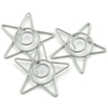 Spiral Star Paper Clips Pewter - 15 Ct