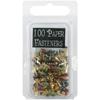 Mini Painted Metal Paper Fasteners 100/Pkg-Matte H