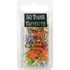 Painted Metal Paper Fasteners 50/Pkg-Tropical - Fu