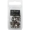 Metal Paper Fasteners Round Pewter - 50 Ct