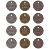 "Tim Holtz Idea-Ology 1"" Philosophy Tags-12/Pkg - 4"