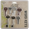 Tim Holtz Idea-Ology Word Keys-7/Pkg - Antique Nic