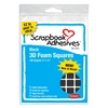 "3D Self-Adhesive Foam Squares Black - 0.5"" X 0.5"""