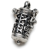 Prayer Box Metal Charm-Antique Silver Time Capsule