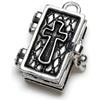 Prayer Box Metal Charm 1/Pkg-Antique Silver Bible