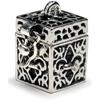 Prayer Box Metal Charm-Antique Silver Fleur De Lis