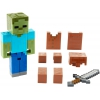 Minecraft Zombie In Armor Basic Figure