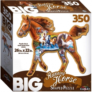 Big Shaped 350 pc Running Horse Shaped Jigsaw Puzzle