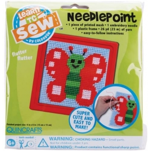 Butterfly Learn To Sew Needlepoint Kit