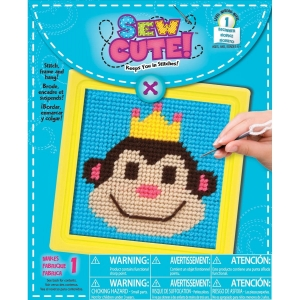 Colorbok Monkey Learn to Sew Needlepoint Kit