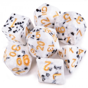 Cookies and Cream Polyhedral Dice Set
