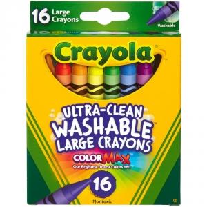 Crayola Large Washable Crayons-16 Pkg