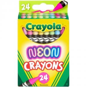 Crayola Neon Crayons Back to School Supplies 24ct