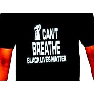 """S T-Shirt """"I CAN'T BREATHE BLM"""""""