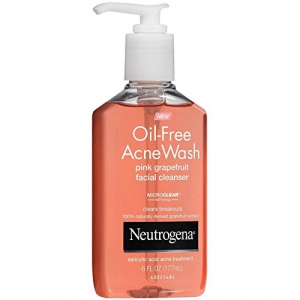 Oil Free Acne Wash Pink Grapefruit Facial Cleanser Neutrogena 6 oz