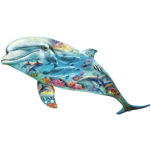Shaped Puzzle 500 Dolphin Ocean