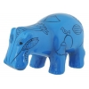 Egyptian Blue Hippopotamus Figurine