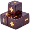 Handmade Stone Fudge Dice Poppy Jasper 4-pack