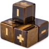 Handmade Stone Fudge Dice Tiger's Eye 4-pack