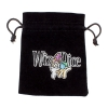 Medium 3in x 4in Embroidered Velour Pouch with Drawstring