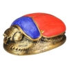 Red and Blue Scarab
